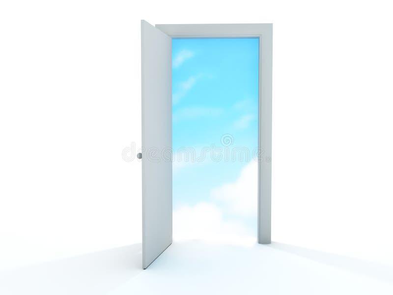 Porte ouverte illustration libre de droits