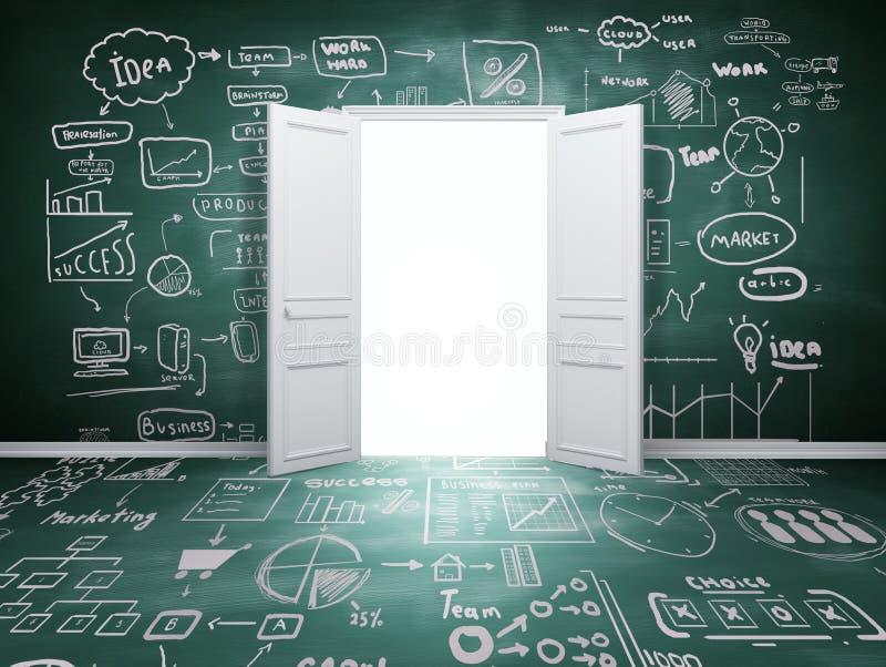 Porte ouverte illustration de vecteur