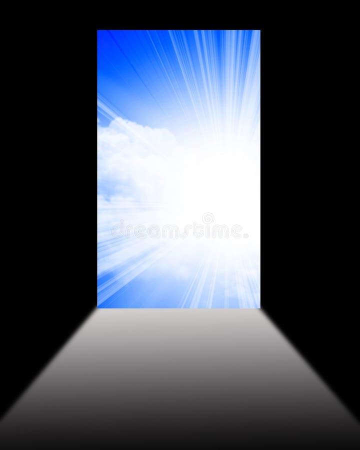 Porte ouverte au monde neuf illustration de vecteur