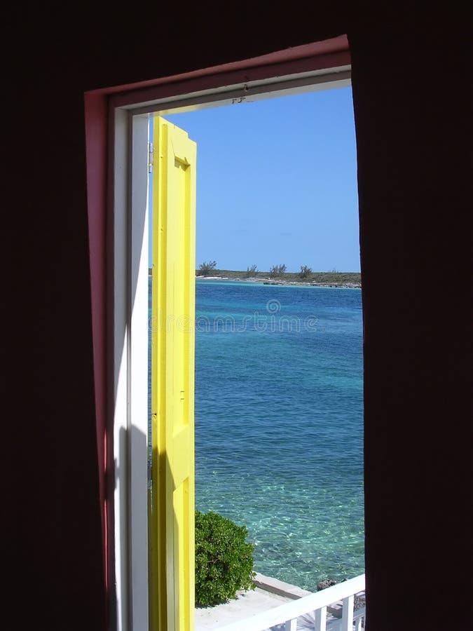 Porte ouverte Bahamas images libres de droits