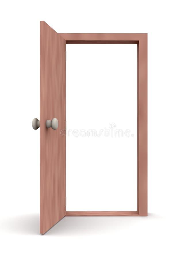 Porte ouverte - type 1 de dessin animé illustration de vecteur