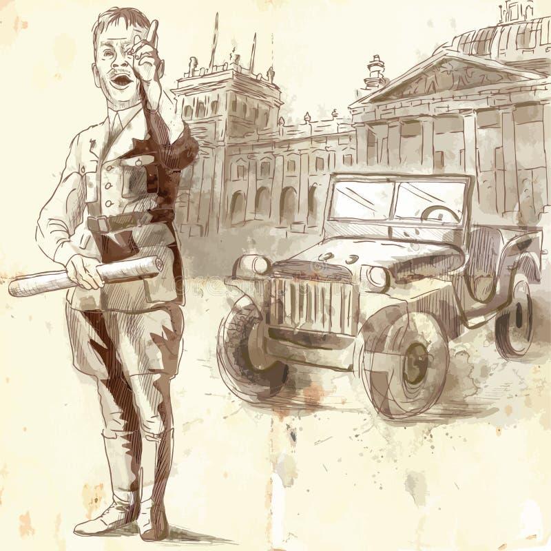 Porte-parole illustration stock
