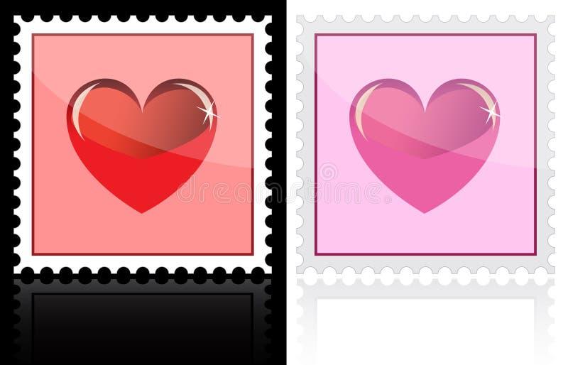 Porte postal com ícone do coração ilustração do vetor