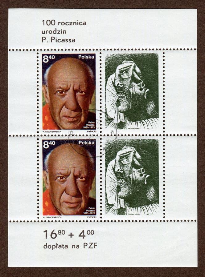 Porte postal de Pablo Picasso fotografia de stock royalty free