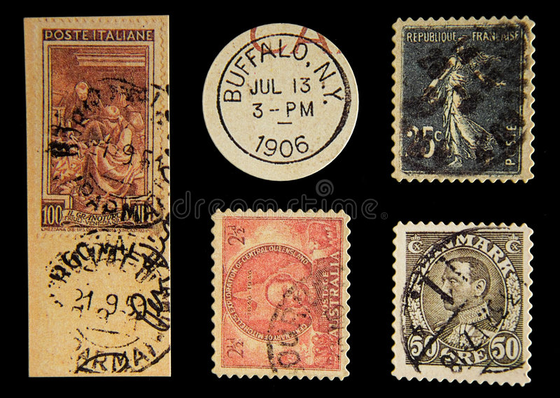 Porte postal velho imagens de stock royalty free