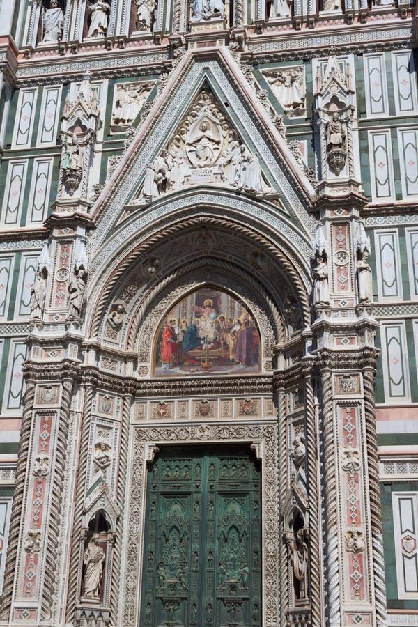 Porte principale Santa Maria del Fiore - Florence Dome photographie stock