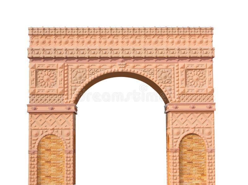 porte romaine de colonnes d'isolement photo stock
