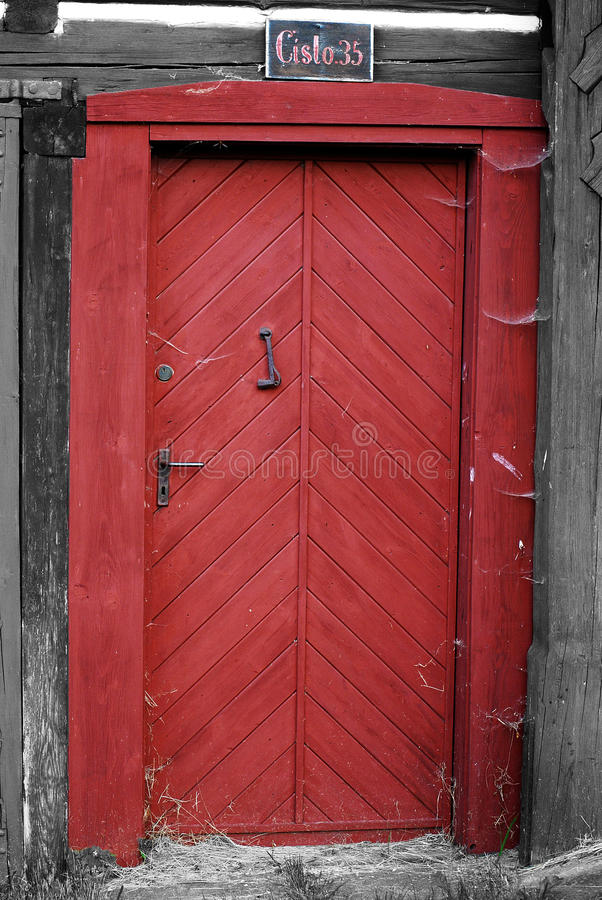 Porte rouge 35 images stock