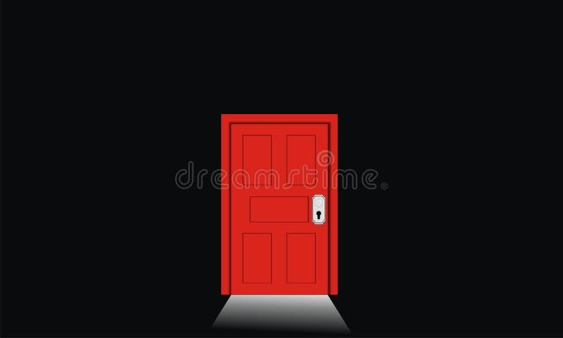 Porte rouge photo stock