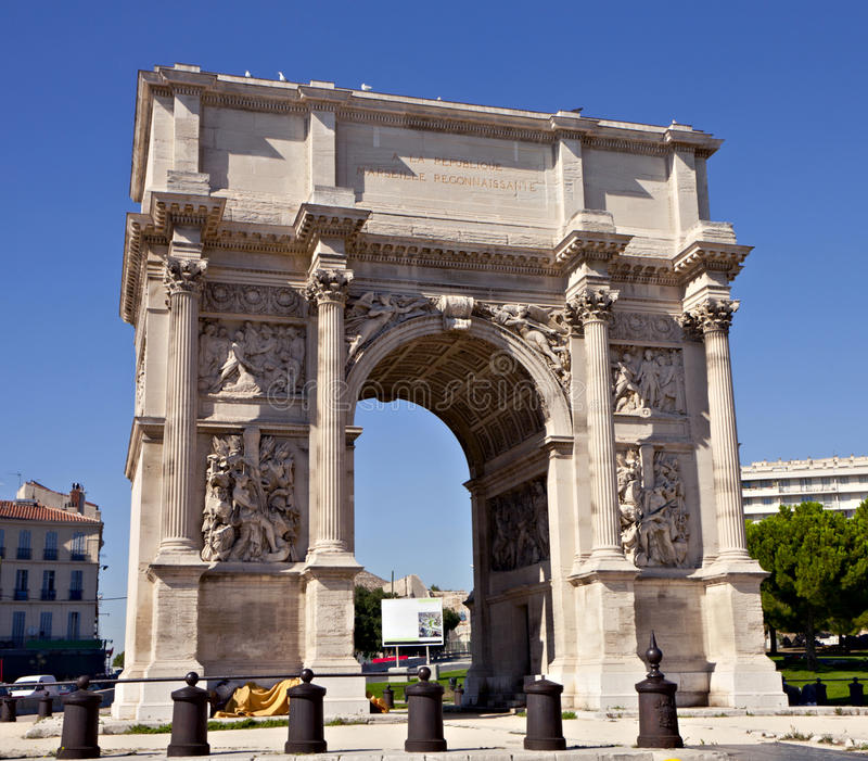 Download Porte Royale - Triumphal Arch In Marseille Stock Image - Image: 16553045
