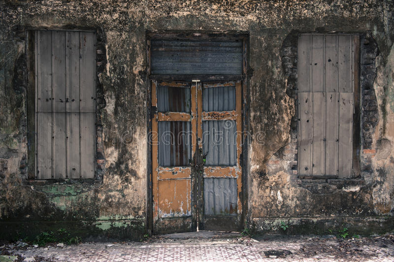 Porte rustique photo stock