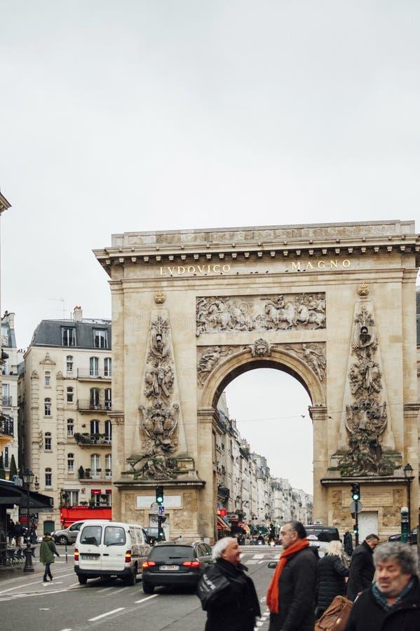 Porte Saint-Denis - LUDOVICO MAGNO royalty free stock images