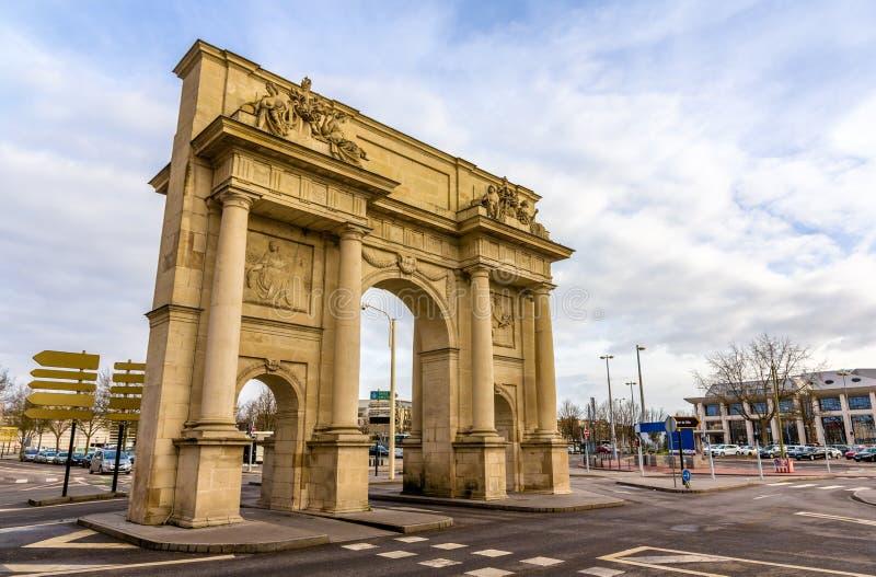 Porte Sainte-Catherine i Nancy - Frankrike royaltyfri bild
