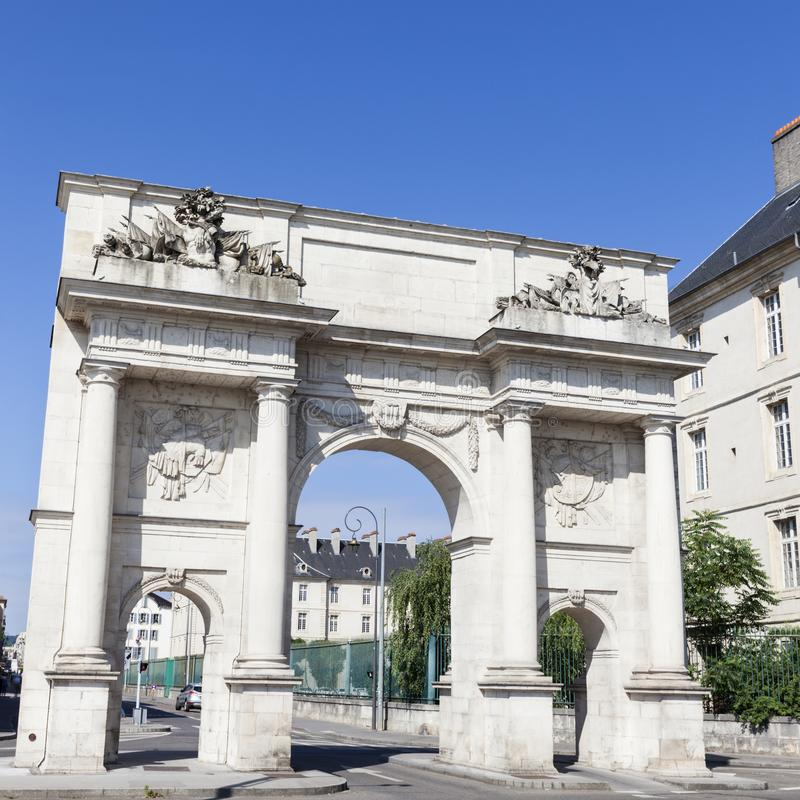 Porte Sainte Catherine in Nancy stock afbeeldingen
