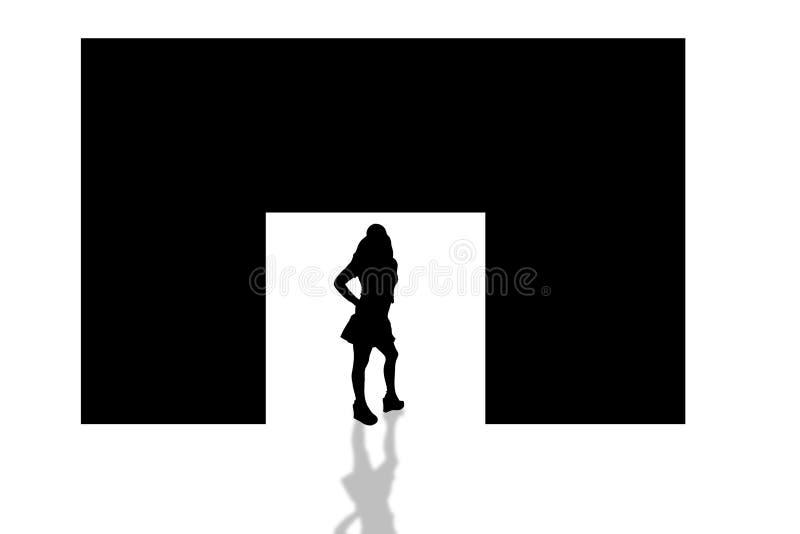Download Porte shadows-5 illustration stock. Illustration du long - 91796