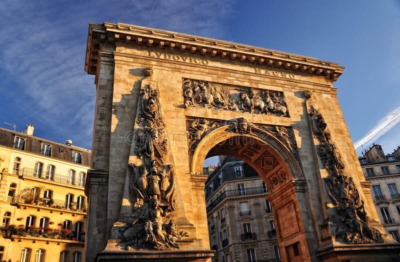 Porte St Denis, Paris lizenzfreies stockbild