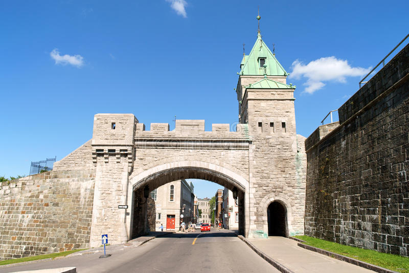 Porte St. Louis a Quebec City, Canada fotografie stock libere da diritti