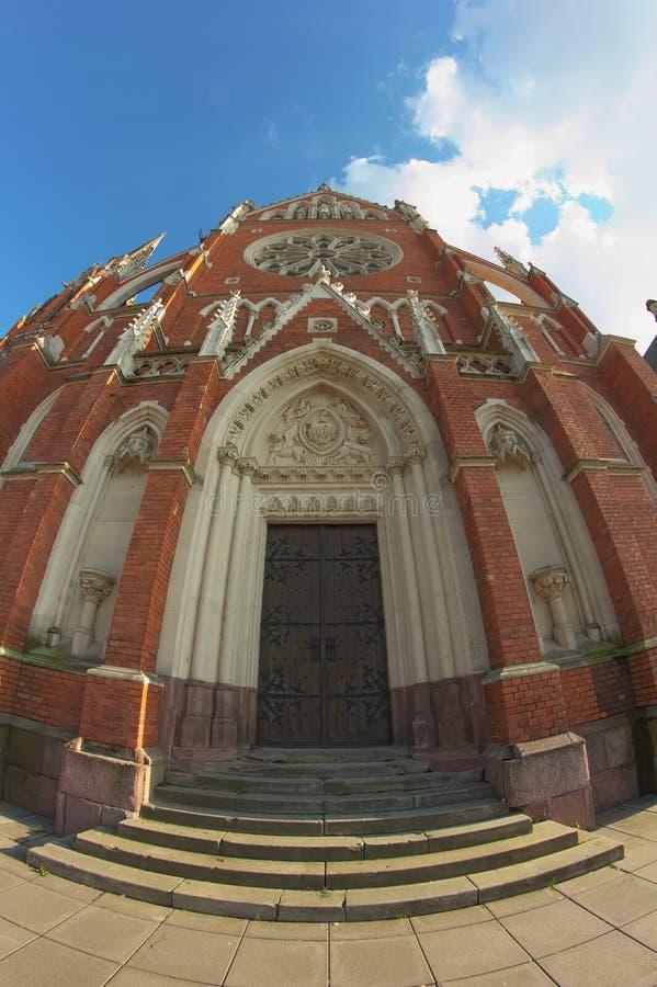 Porte sur la cathédrale dans Osijek image libre de droits