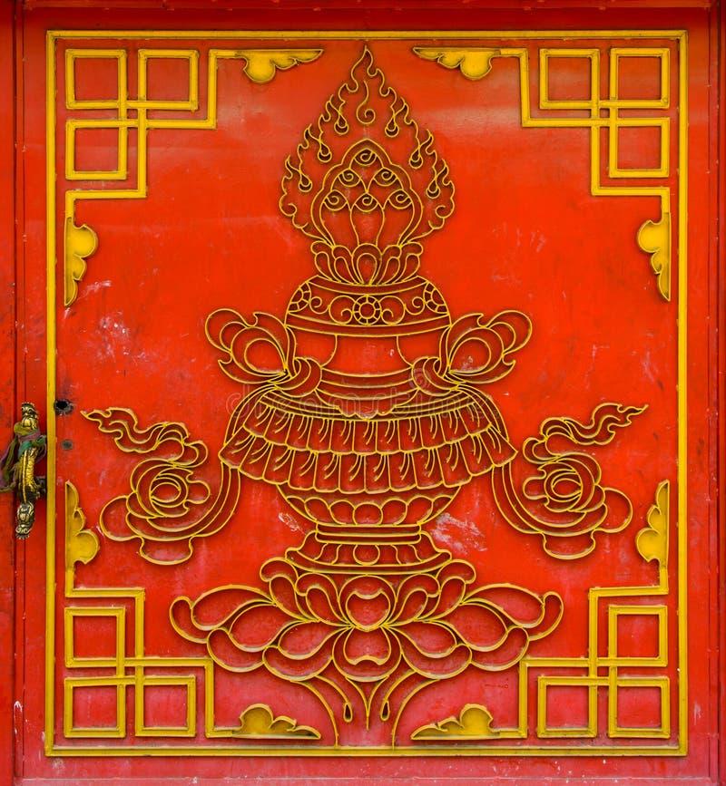Porte tibétaine rouge image stock