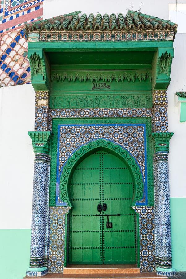 Porte verte à Tanger photographie stock libre de droits