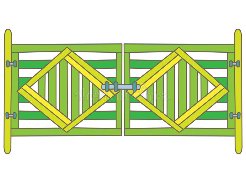 Porte verte illustration libre de droits