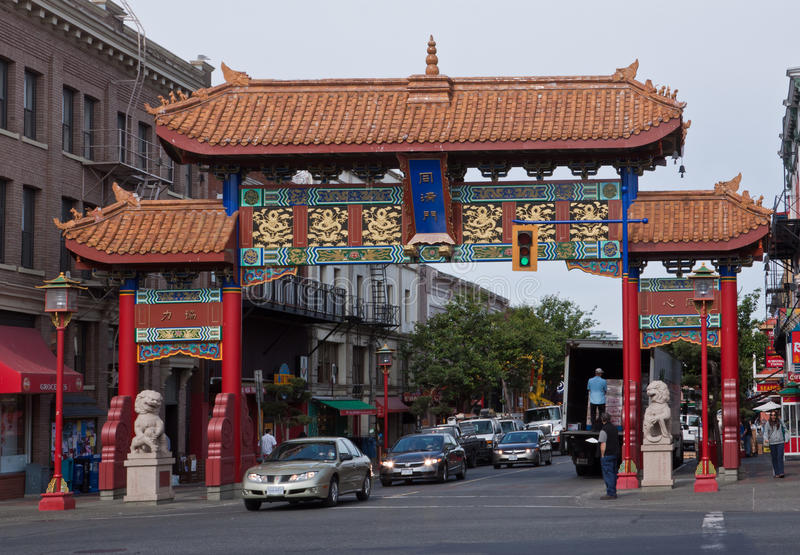 Porte Victoria Canada de Chinatown photographie stock
