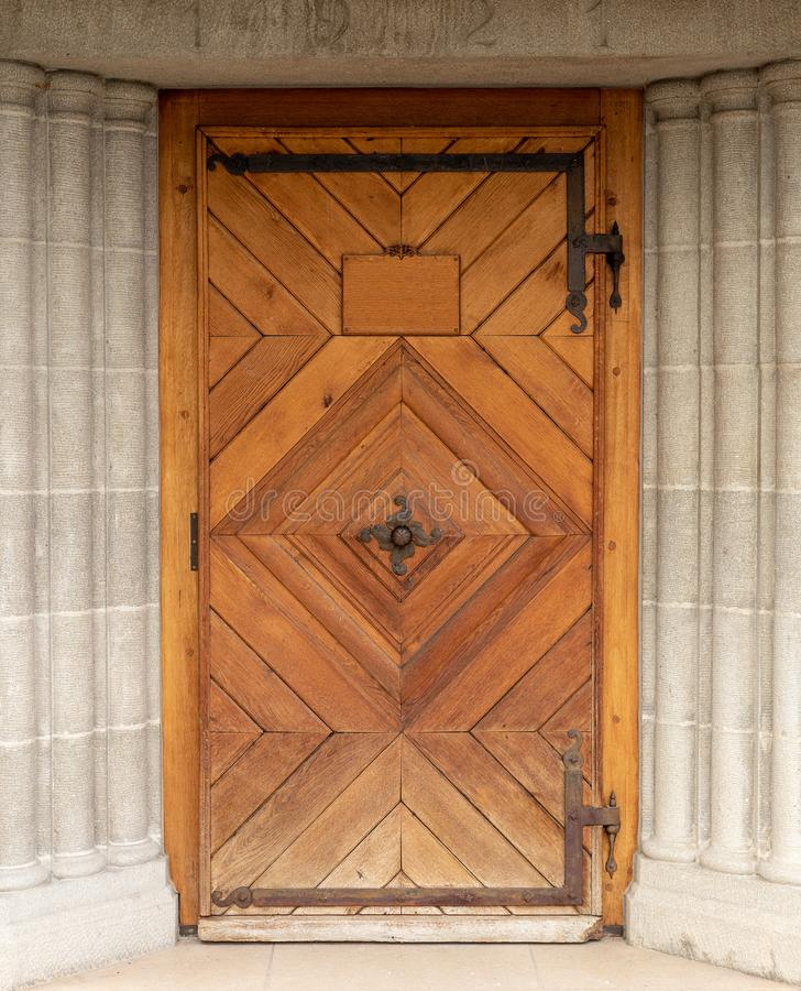 Porte woodcut En bois vieux entrée photos libres de droits