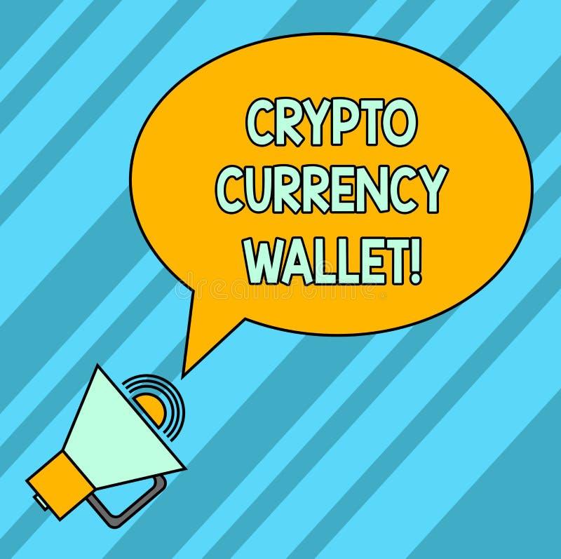 Portefeuille de devise des textes d'écriture de Word crypto Concept d'affaires pour le portefeuille de Digital qui permet des uti illustration de vecteur