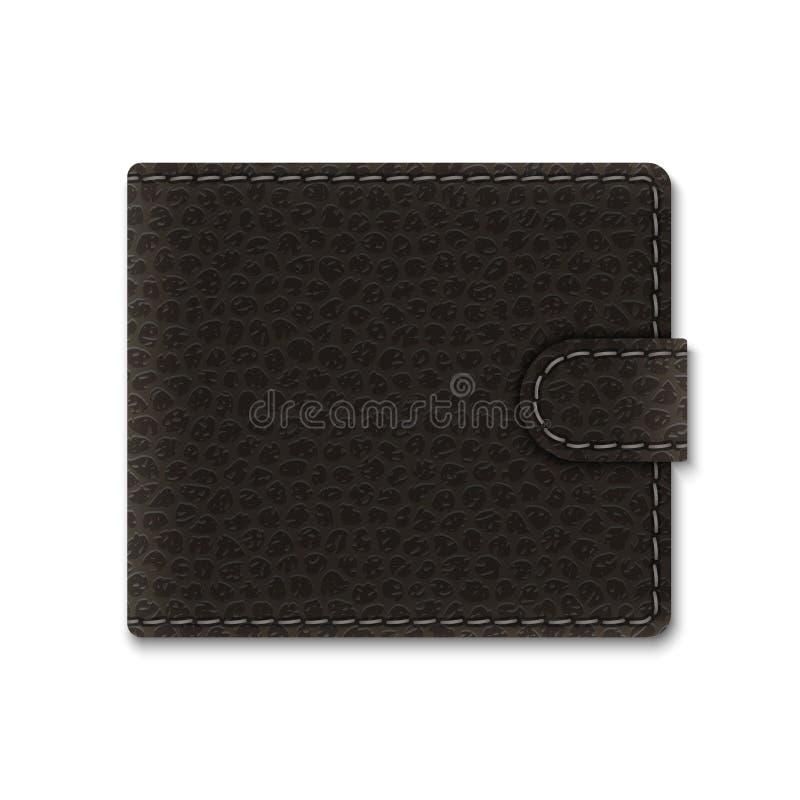 portefeuille en cuir réaliste illustration stock