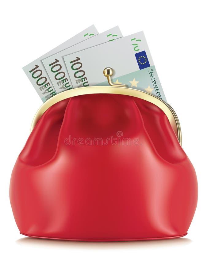 Portefeuille met euro, royalty-vrije illustratie