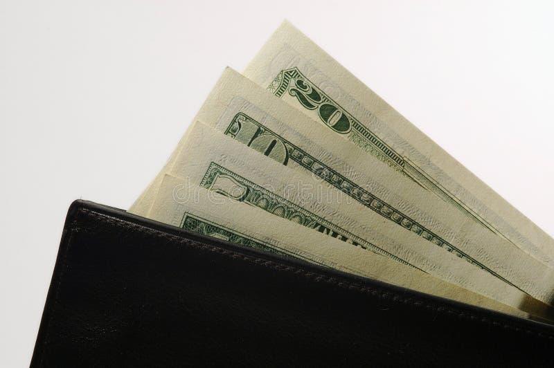 Portefeuille met geld stock fotografie
