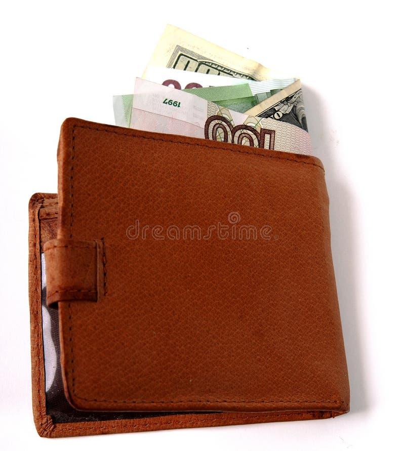 Portefeuille met geld royalty-vrije stock foto's