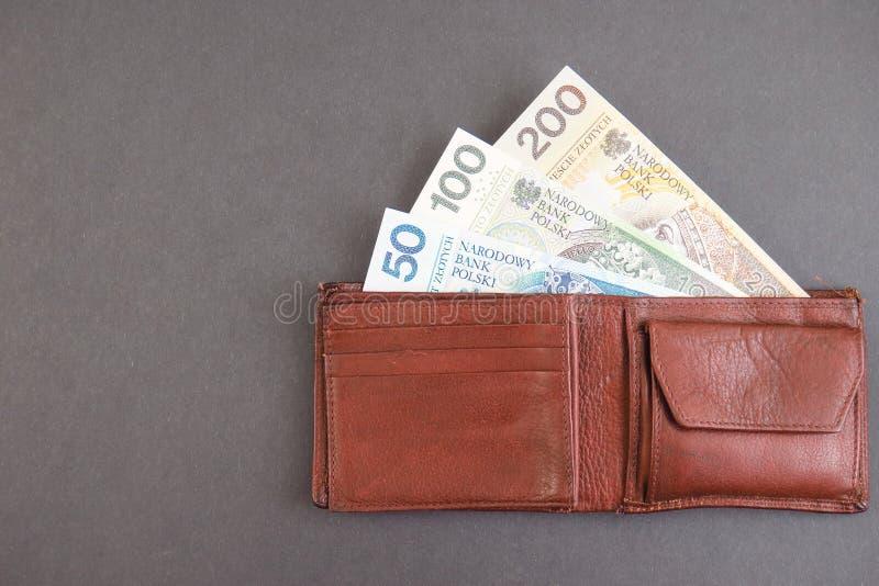 Portefeuille polonais photo libre de droits