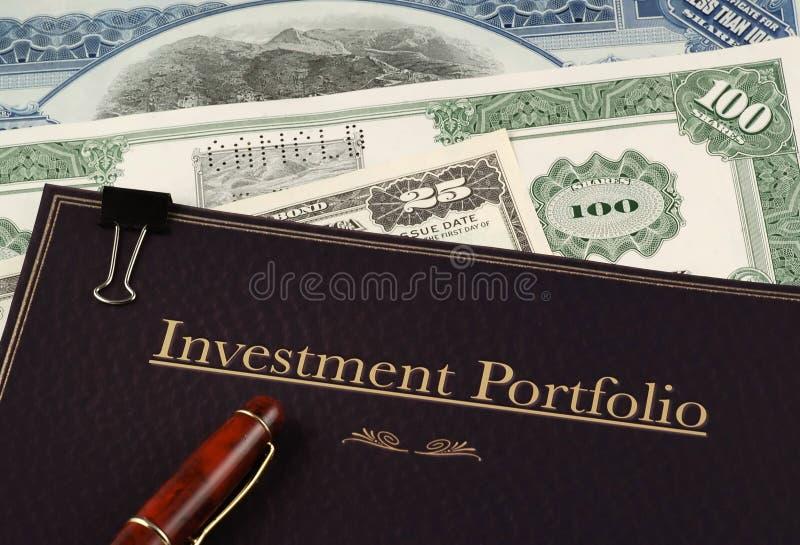 Portefeuille von Anlagepapieren lizenzfreie stockbilder