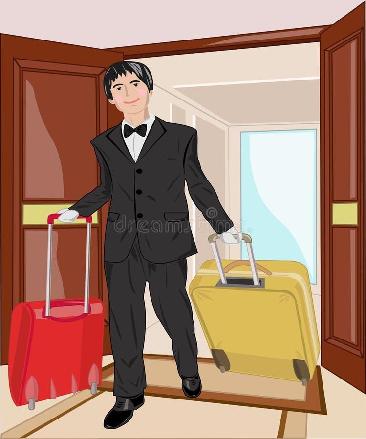 Porteiro ilustração royalty free