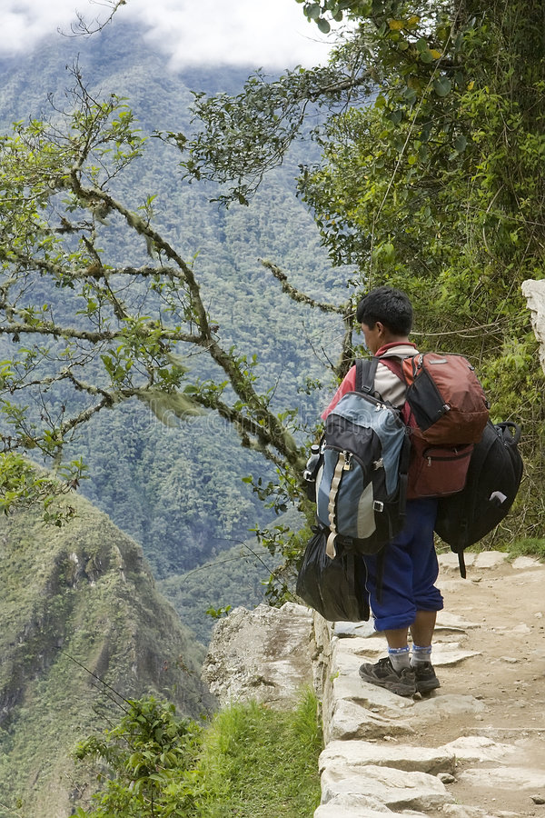 Porteiro para a fuga do inca em Peru fotografia de stock royalty free