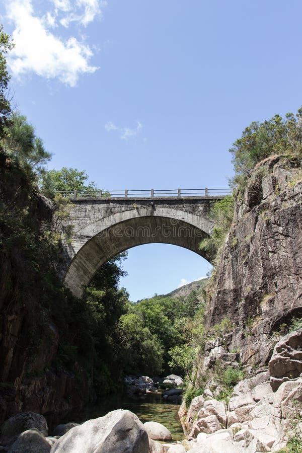 Portela robi Homem mostowi w Geres, Portugalia 1 obraz stock