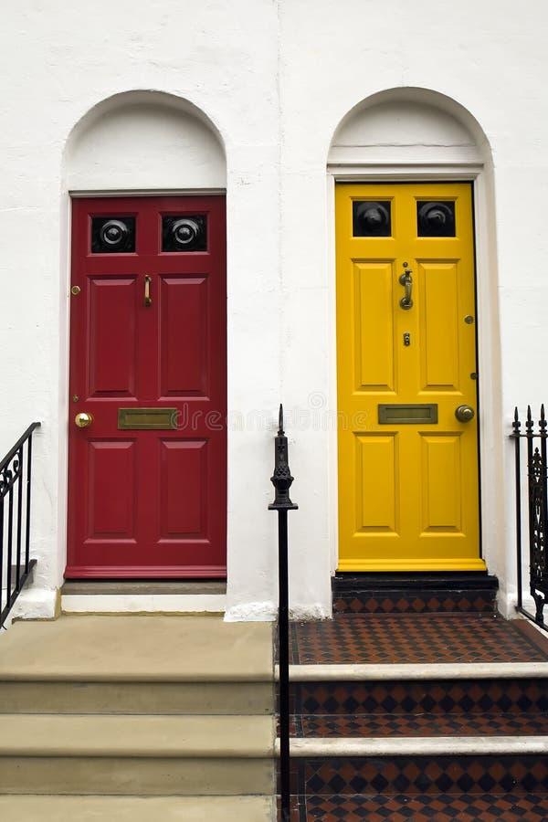 Portelli colorati a Brighton immagini stock