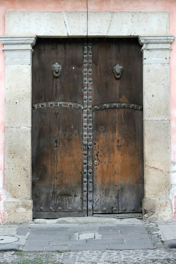 Portelli di legno fotografia stock libera da diritti