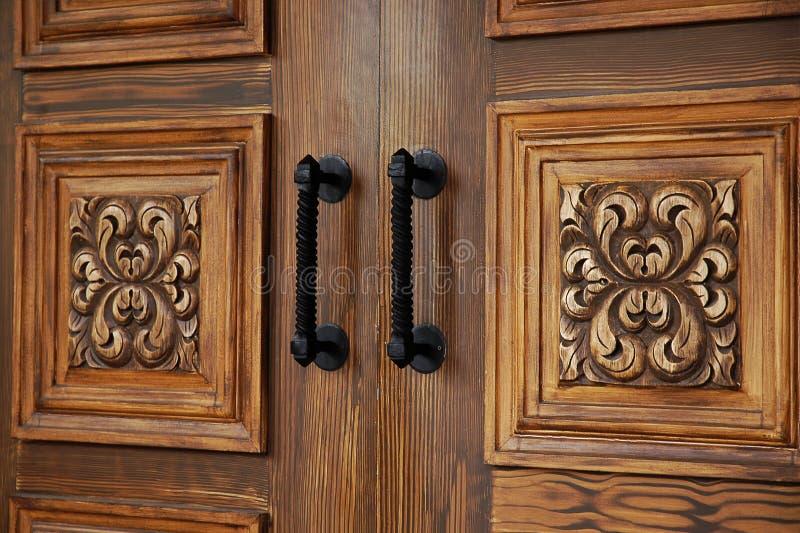 Portelli di legno eleganti fotografia stock