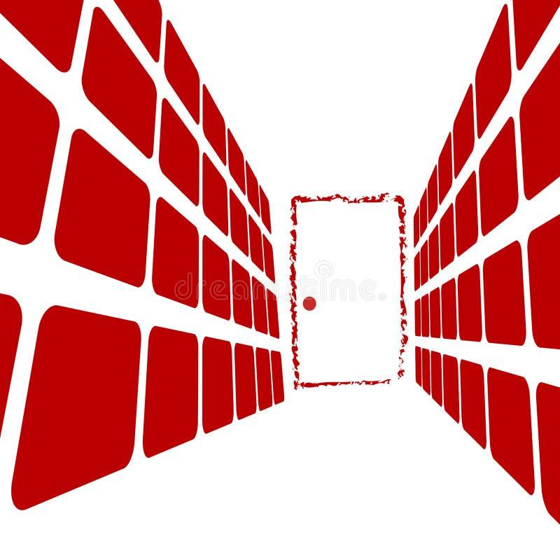 Portello all'estremità del corridoio immagini stock libere da diritti