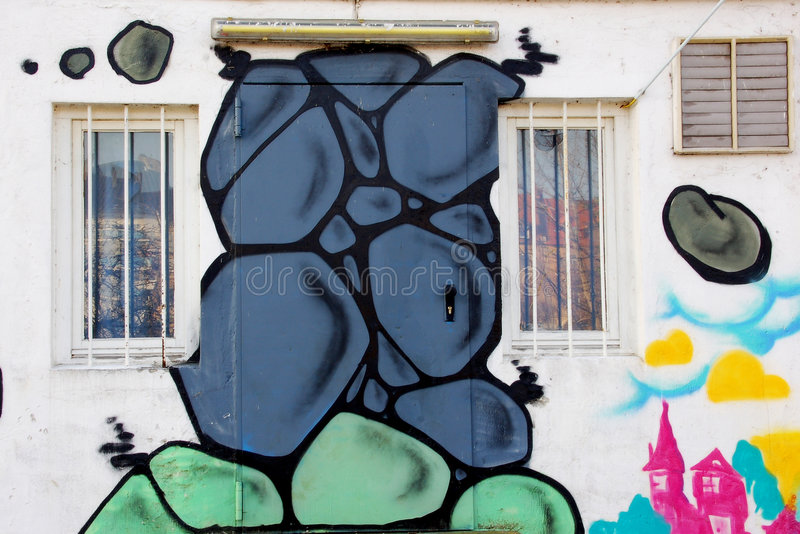 Download Portello dei graffiti fotografia stock. Immagine di estratto - 3893038