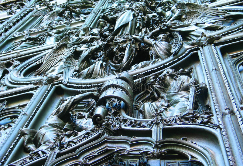 Portello della cattedrale fotografie stock libere da diritti