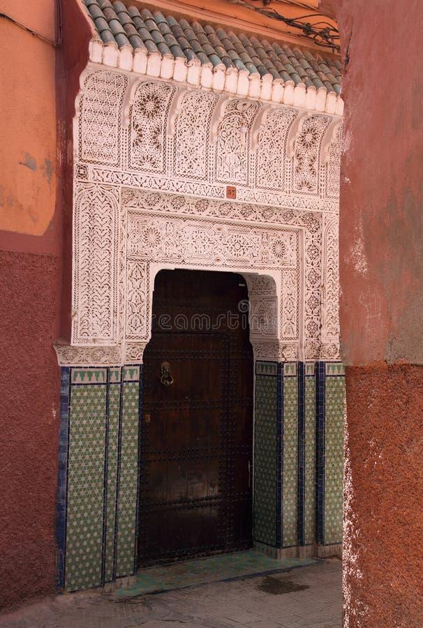 Portello di Arabesque di Marakesh immagini stock