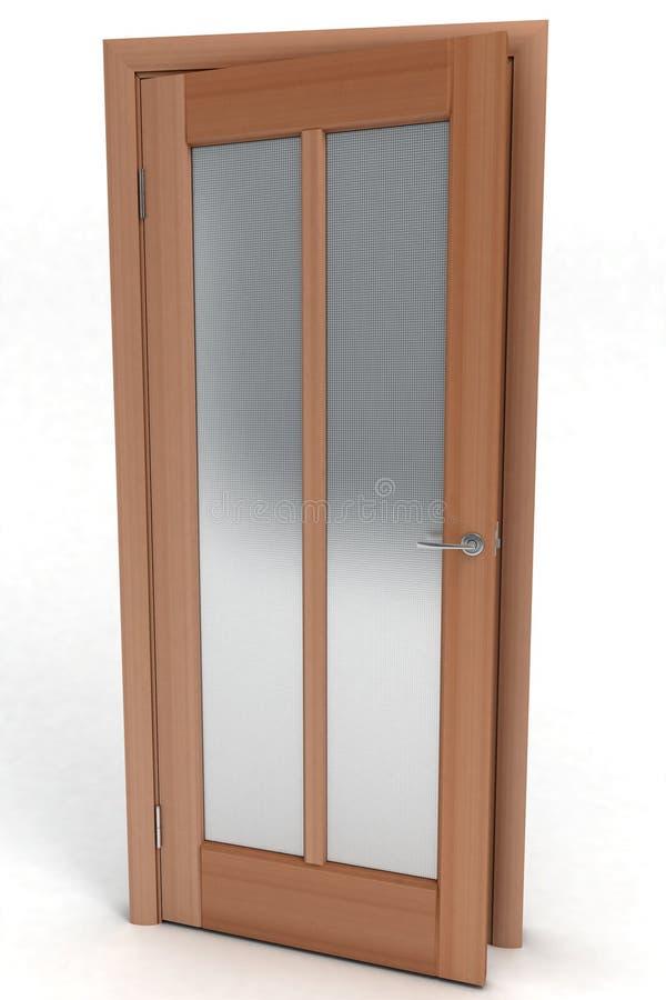Portello di legno chiuso illustrazione di stock