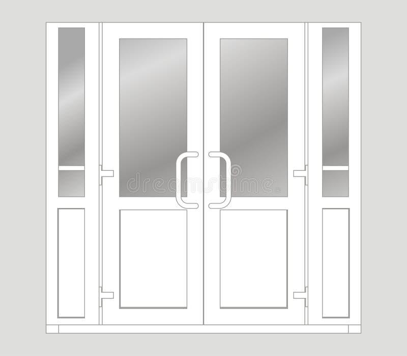 Portello di plastica illustrazione di stock