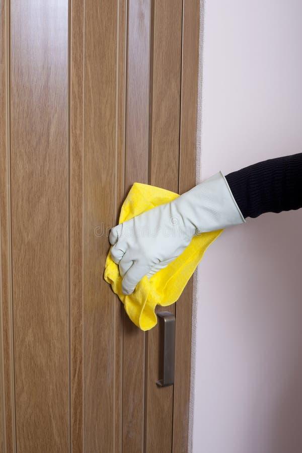 Portello di pulizia della mano. fotografia stock