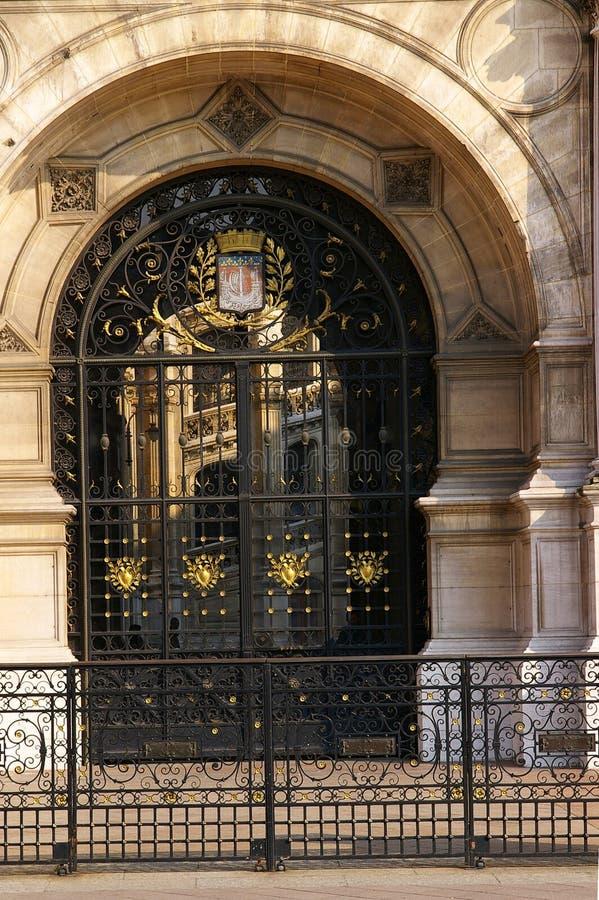 Portello di vetro - Hotel de Ville fotografie stock