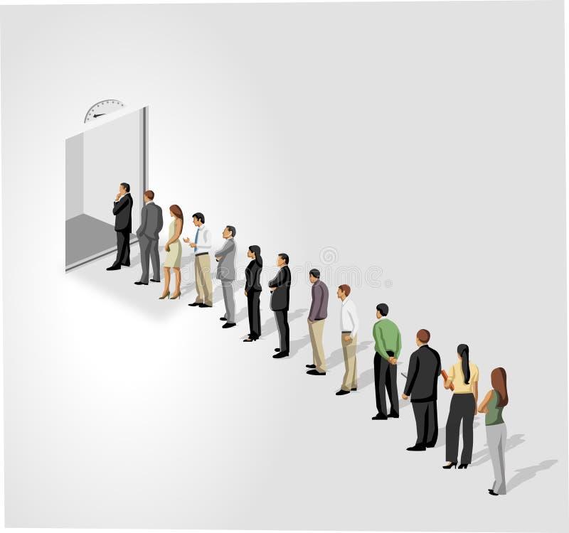 Portello elevatore/dell'elevatore. illustrazione vettoriale