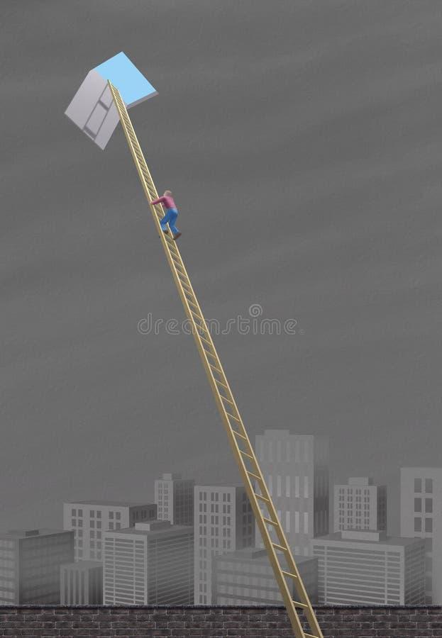 Portello G del cielo illustrazione di stock